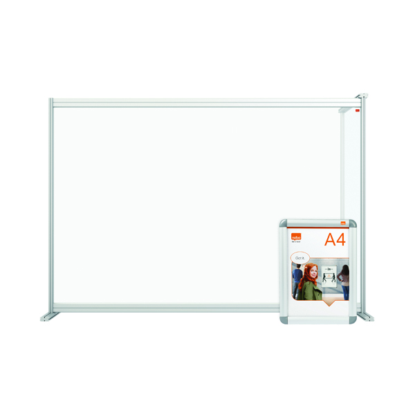 Nobo Modular Desk Divider Extension Acrylic 1400x50x1000mm Clear