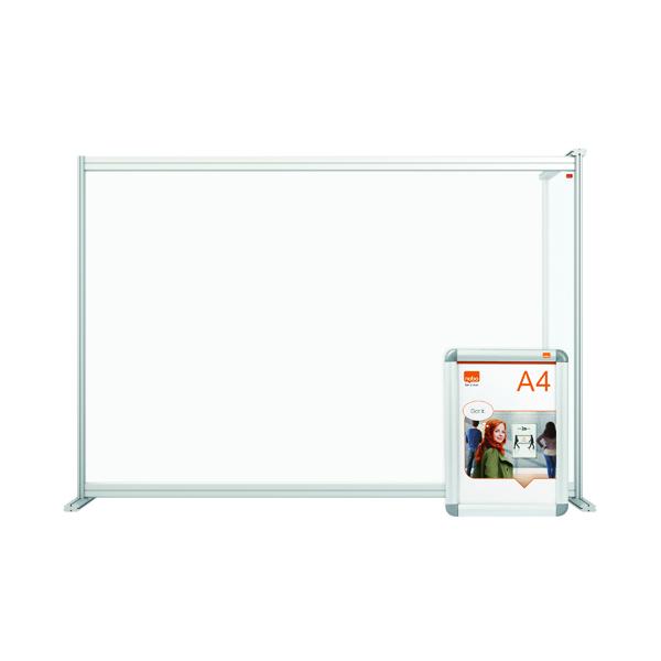 Nobo Acrylic Modular DeskDivider Extension 1400x1000mm Clear