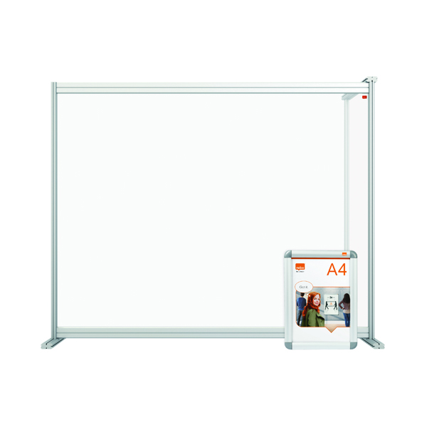 Nobo Modular Desk Divider Extension Acrylic 1200x50x50mm Clear