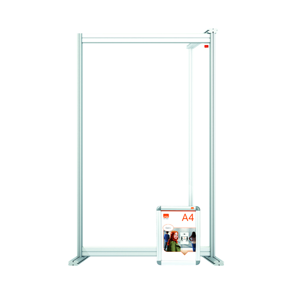 Nobo Acrylic Modular Desk Divider Extension 600x1000mm Clear