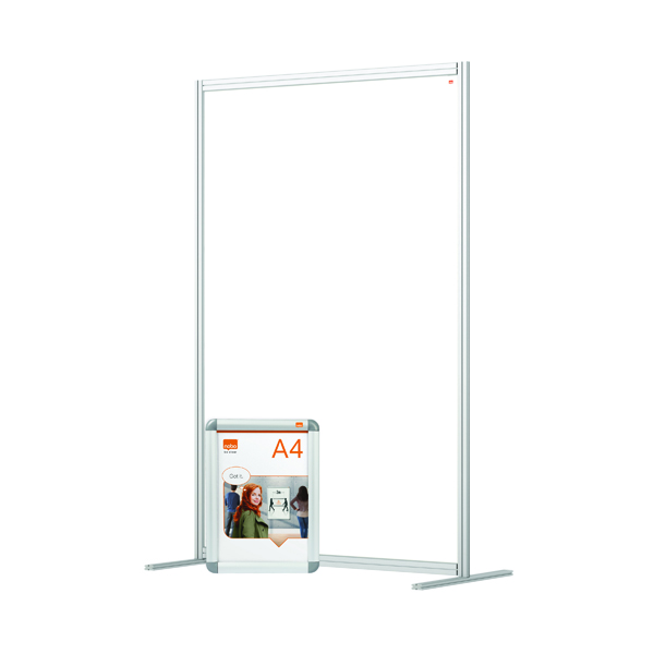 Nobo Acrylic Modular Room Divider 1200 x 1800mm Clear
