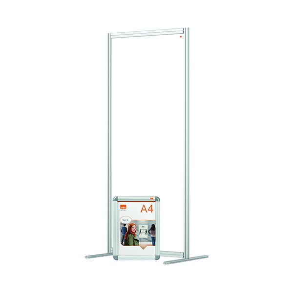 Nobo Modular Free Standing Room Divider Acrylic 800x50x1800mm Clear