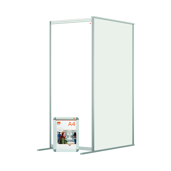 Nobo Acrylic Modular Room Divider Extension 800x1800mm Clear