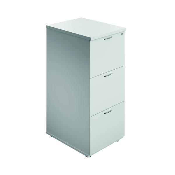 Jemini 3 Drawer Filing Cabinet White
