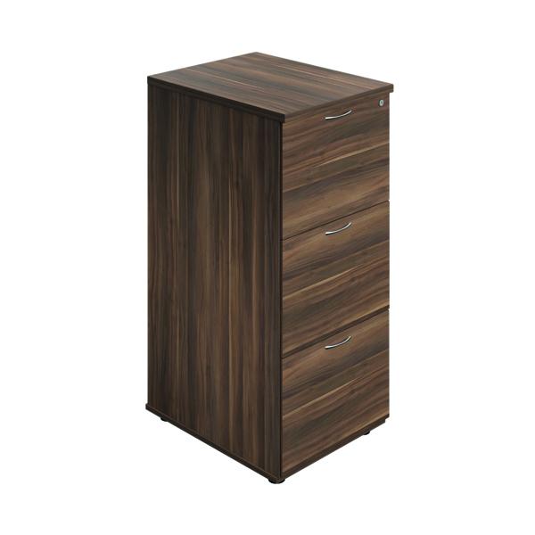 Jemini 3 Drawer Filing Cabinet Dark Walnut