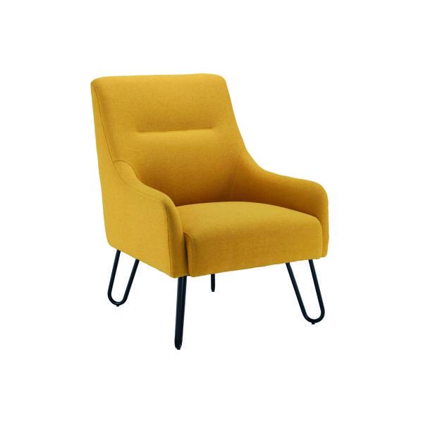 Jemini Reception Armchair 650x800x860mm Mustard