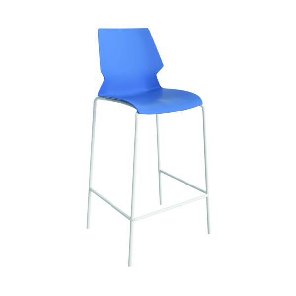 Jemini Uni High Stool Blue/White
