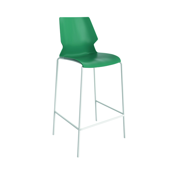 Jemini Uni High Stool Green/White