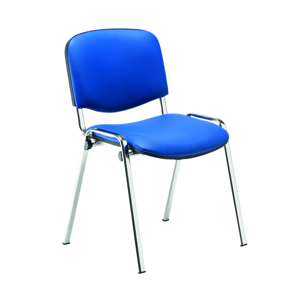 Jemini Multipurpose Stacker Chair Chrome/Blue Polyurethane