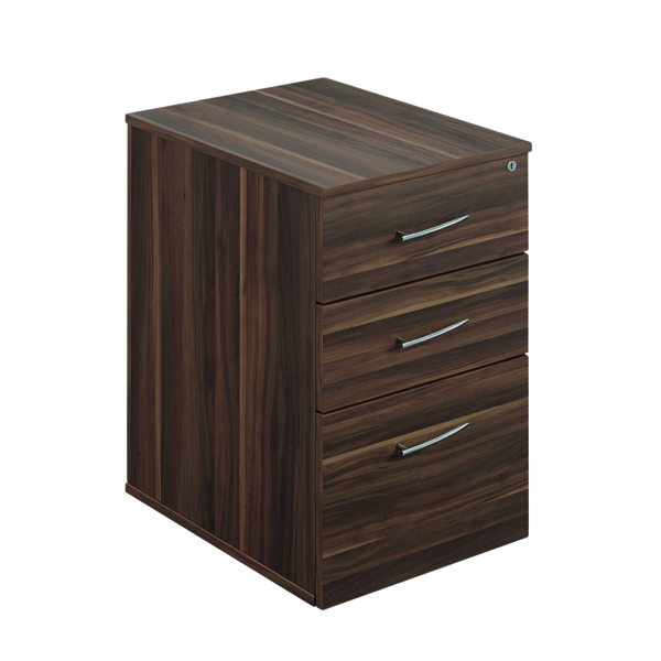 Avior Executive Under Desk Pedestal Dark Walnut