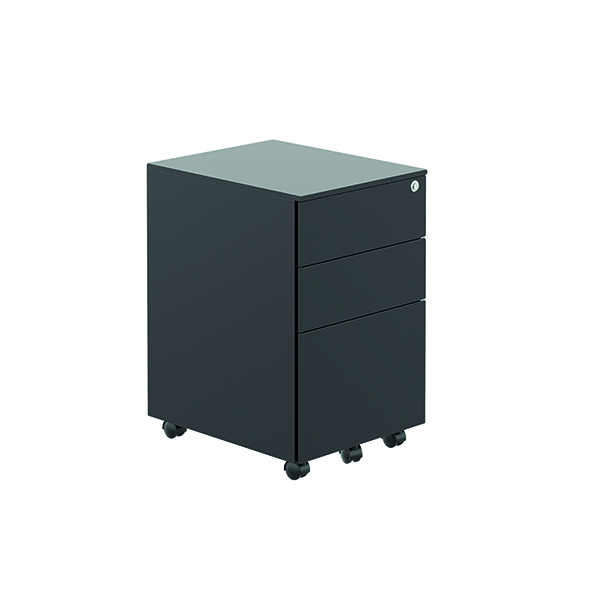 Jemini Contract Steel Pedestal Black