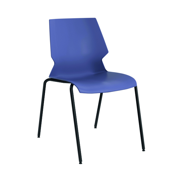 Jemini Uni 4 Leg Chair 530x570x855mm Blue/Grey