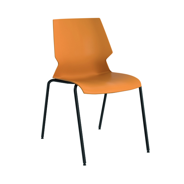 Jemini Uni 4 Leg Chair Yellow/Grey