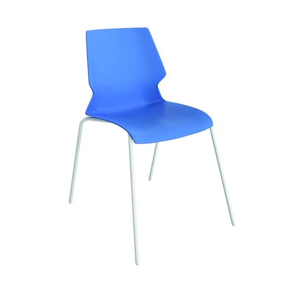 Jemini Uni 4 Leg Chair Blue/White