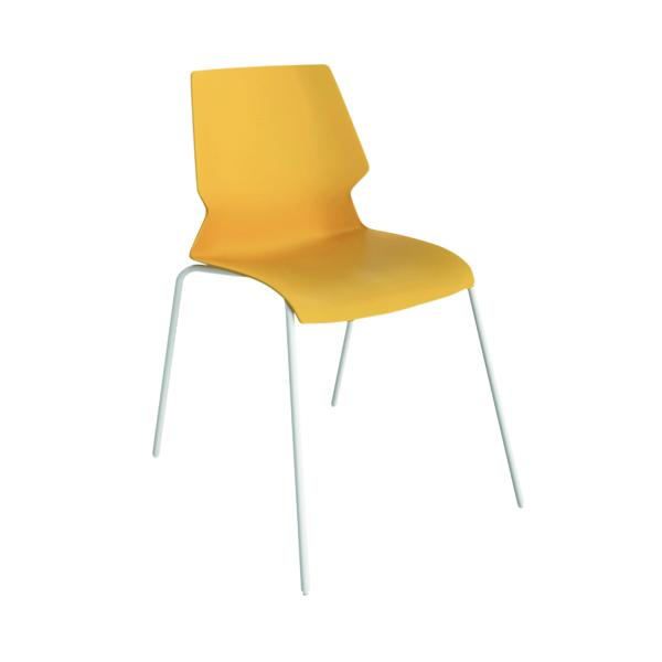 Jemini Uni 4 Leg Chair Yellow/White