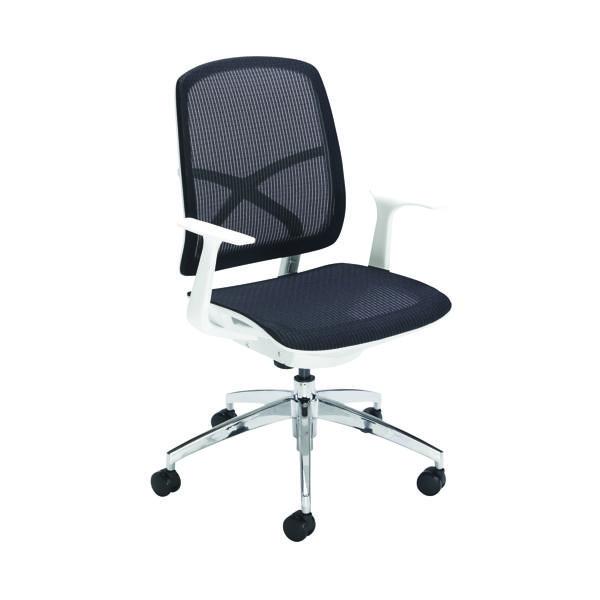 First Soho Task Chair Black Mesh/White