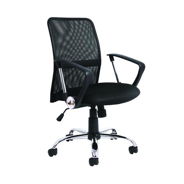 Jemini Medium Back Nimbus Mesh Chair Black