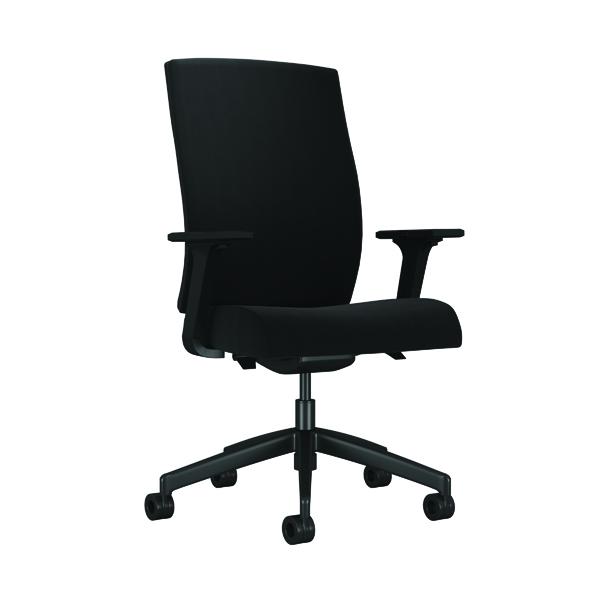 Arista Clover High Back Office Chair 650x610x425mm Black