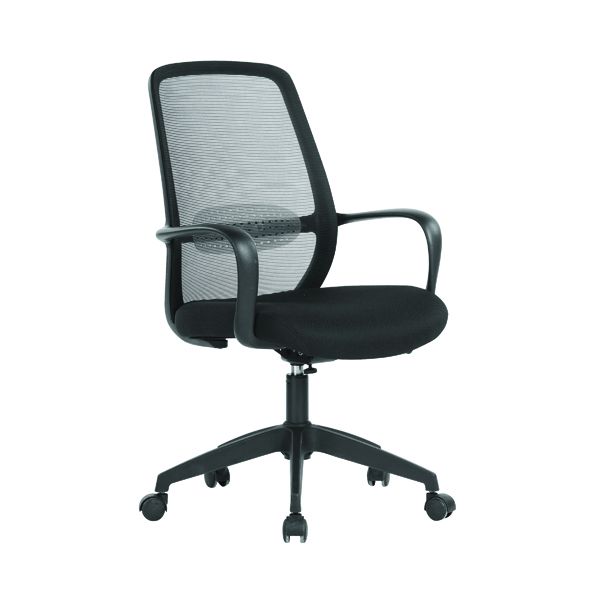 First Soho Task Chair 640x640x965-1040mm Mesh Back Black