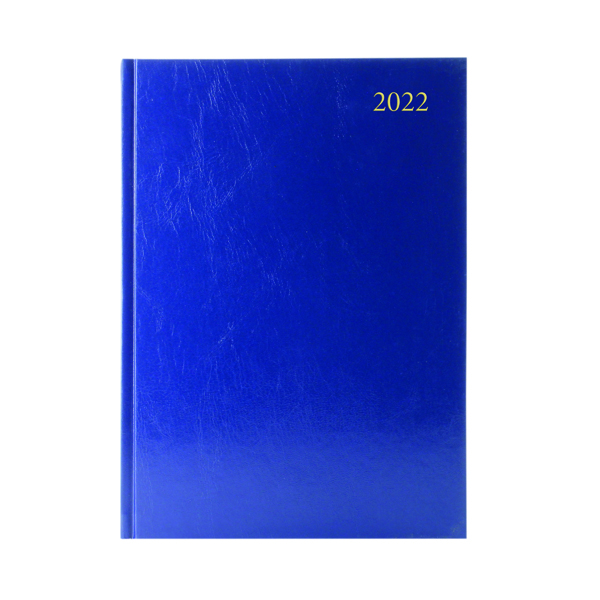 Desk Diary Week To View A4 Blue 2022
