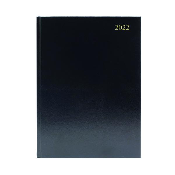 Desk Diary Day Per Page A5 Black 2022