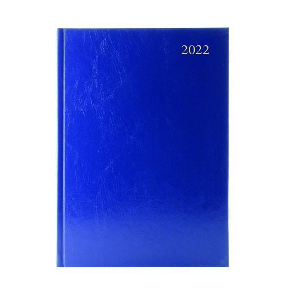 Desk Diary 2 Days Per Page A5 Blue 2022