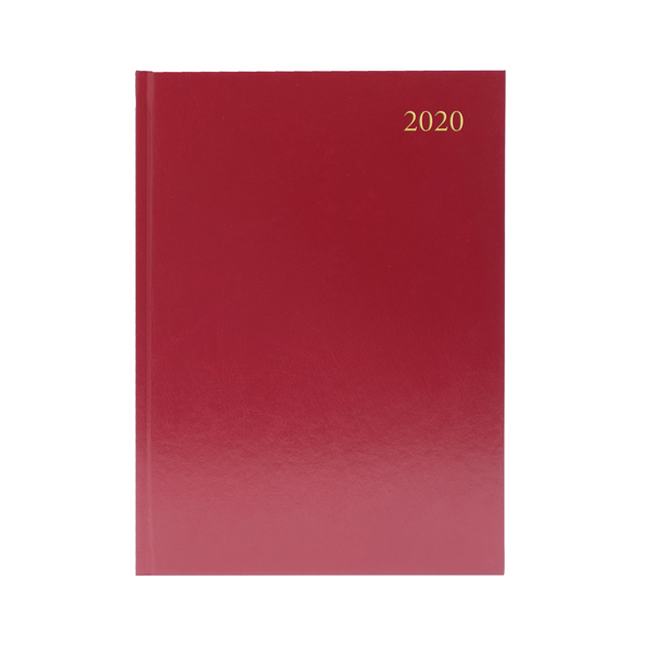 Desk Diary A5 Week to View 2020 Burgundy