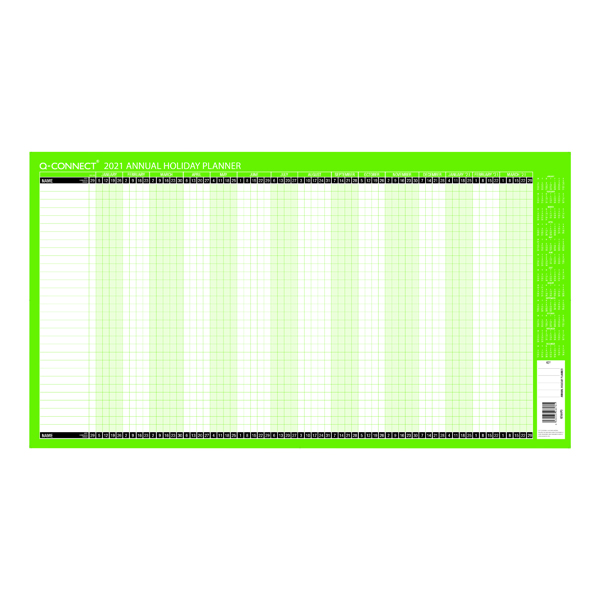 Q-Connect Holiday Planner Unmounted 754 x 410mm 2021