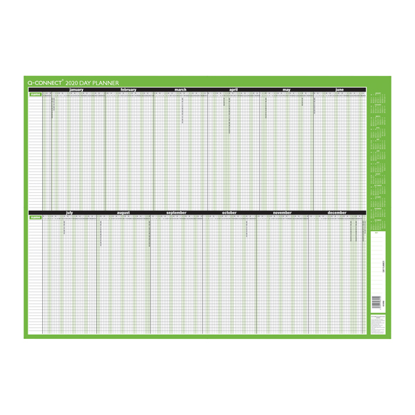 Q-Connect Day Planner Unmounted 855 x 610mm 2020
