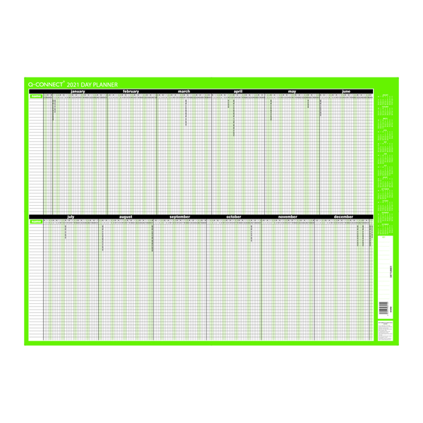 Q-Connect Day Planner Unmounted 855 x 610mm 2021
