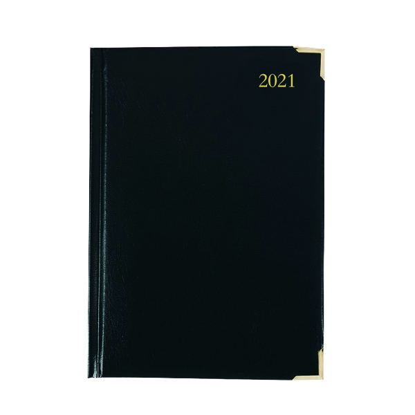 Executive Diary Day Per Page A4 Black 2021