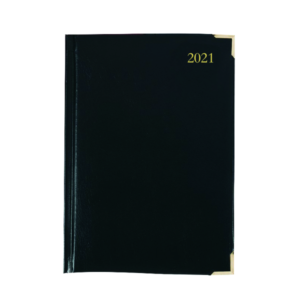 Executive Diary Day Per Page A5 Black 2021