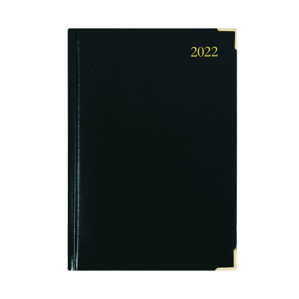 Executive Diary Day Per Page A5 Black 2022