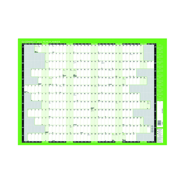 Q-Connect Oversized Year Planner 2022