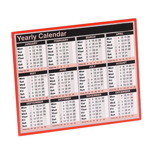 Year To View Calendar 257 x 210mm 2021