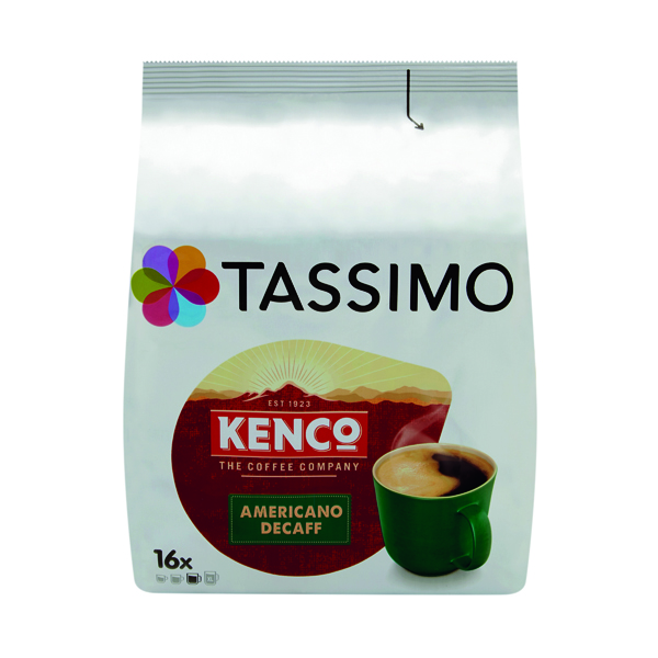 Tassimo Kenco Decaffeinated Coffee Pods (Pack of 16) 4041303