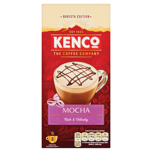 Kenco Mocha Instant Sachet (Pack of 8) 4041494