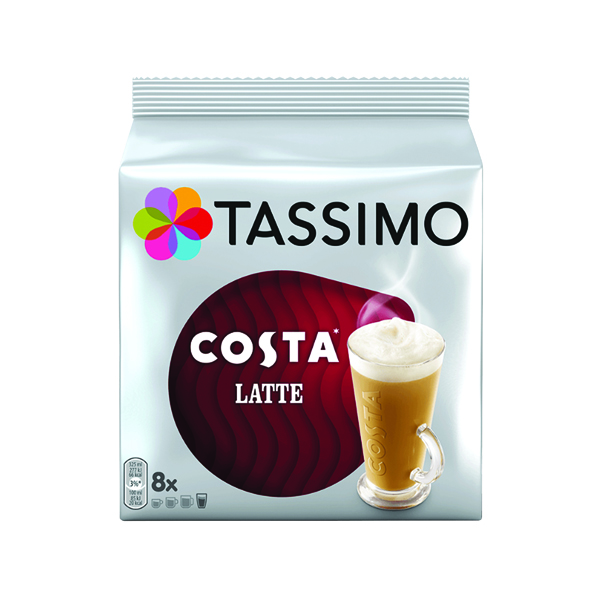 Tassimo Costa Latte Coffee 239.2g Capsules (5 Packs of 8) 343365