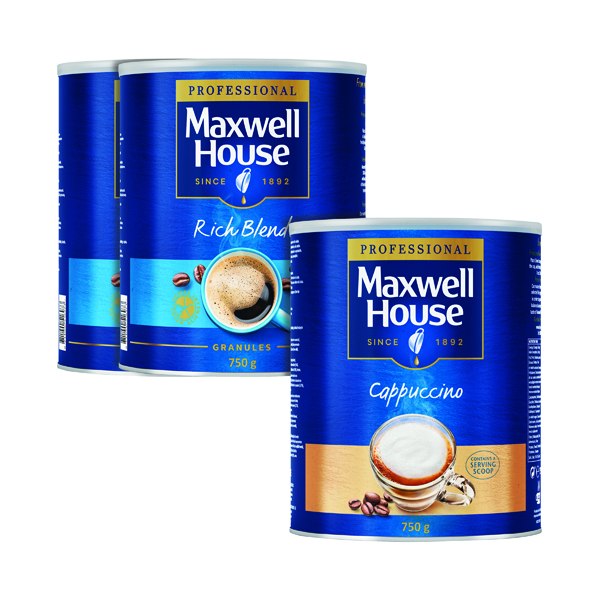 Maxwell House Granules 750g Buy 2 Get FOC Cappuccino 750g