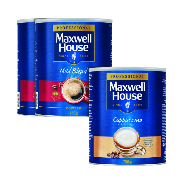 Maxwell House Powder 750g Buy 2 Get FOC Cappuccino 750g