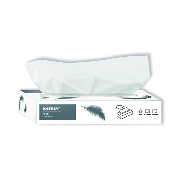 Katrin Plus Facial Tissues 2-Ply 100 Sheets (Pack of 40) 11797