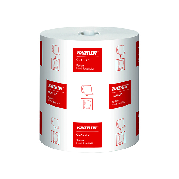 Katrin Classic System Hand Towel M2 2-Ply White (Pack of 6) 460102