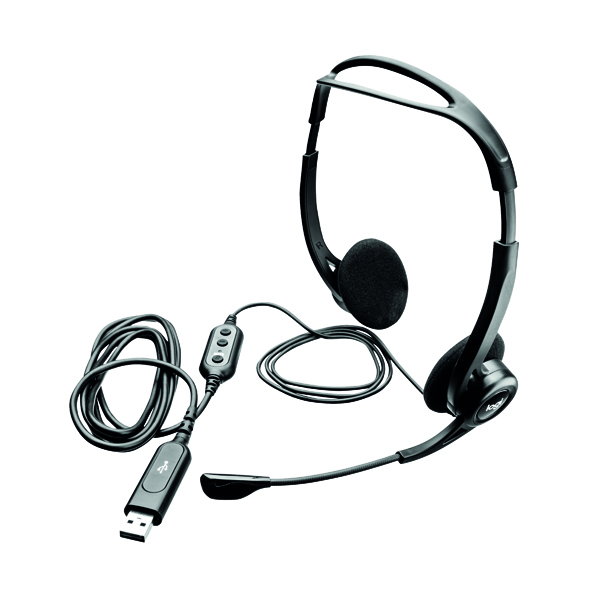 Logitech 960 USB Headset 2.4m Cable Length (USB-A Connectivity) 981-000100