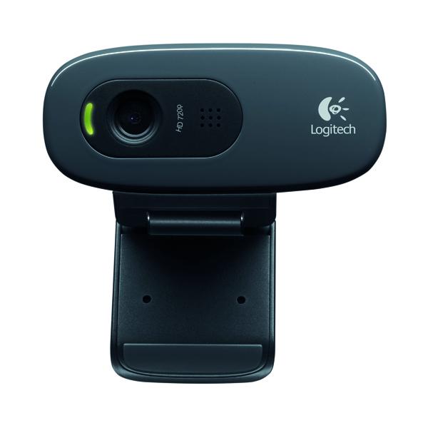 Logitech C270 Webcam 3 MP 1280x720 Pixels USB2.0 Black 960-001063