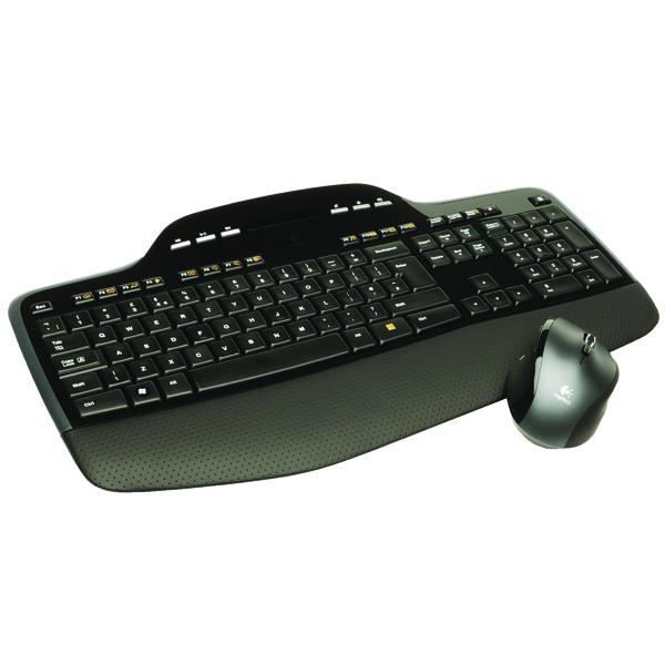 Logitech Wireless MK710 Desktop Keyboard and Mouse Set Black 920-002429