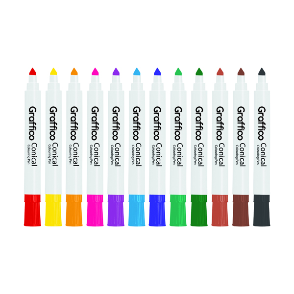Graffico Conical Marker Assorted (Pack of 48) 6152/48