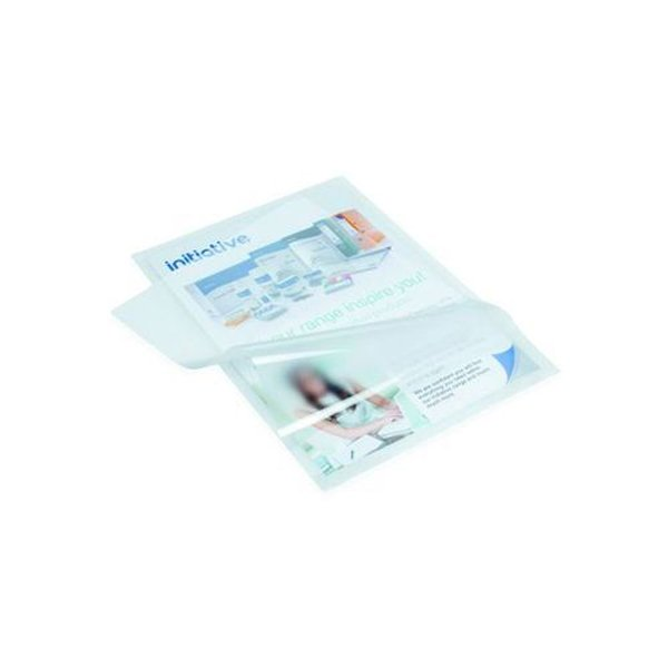 Image for Initiative Lightweight Economy Pouch A4 80 Micron Pack 100