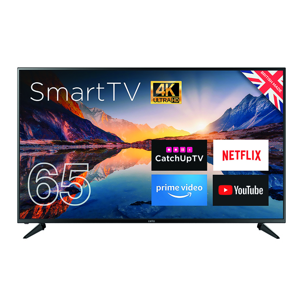 Image for Cello 65in 4K Smart Ultra HD LED TV C65RTS4K