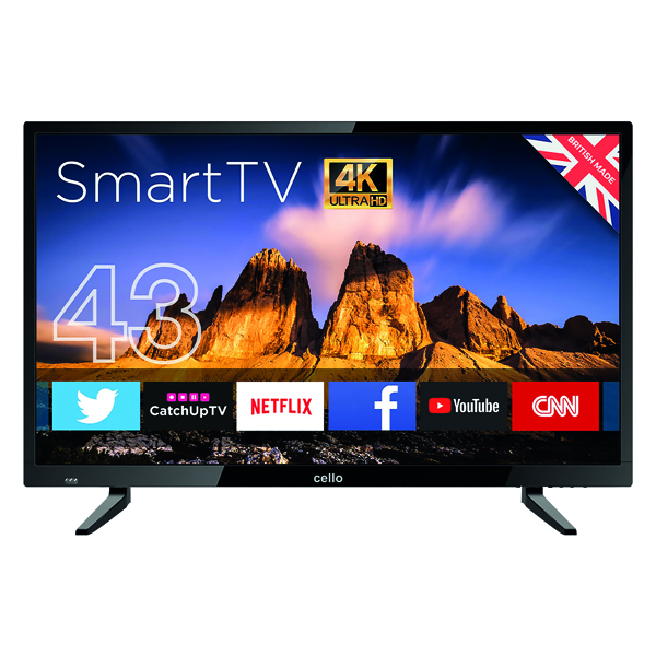 Image for Cello 43in 4K Smart Ultra HD LED TV C43RTS4K