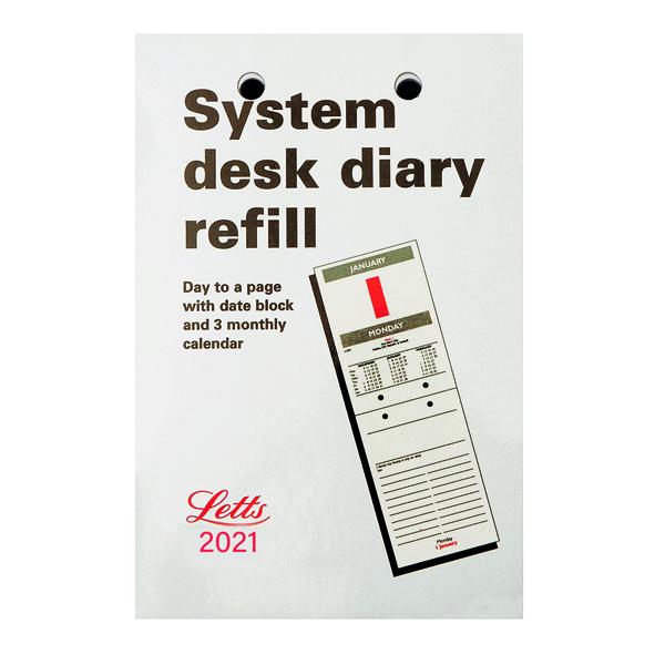 Letts System Desk Refill 2021 21-TSDR